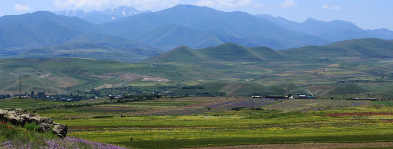 Landschaft im umstrittenen Bergkarabach