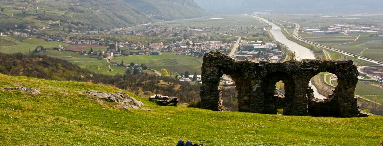Blick von Castelfeder übers Etschtal
