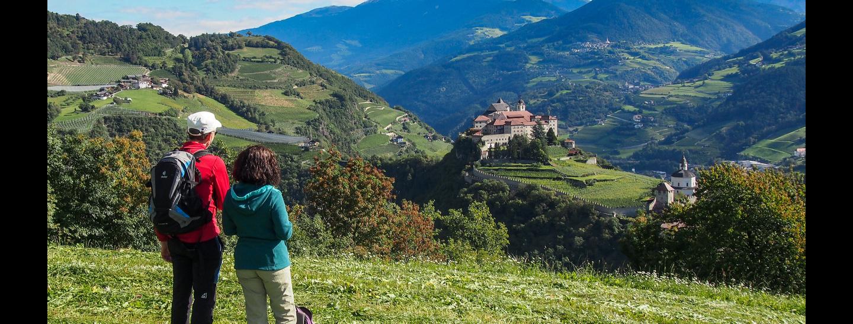 Blick auf die Klosteranlage Säben