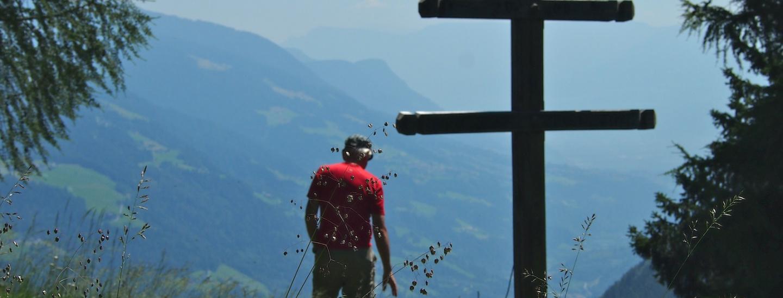 Aussichtspunkt: Wetterkreuz bei der Waalerhütte