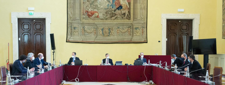 Beppe Grillo bei Mario Draghi