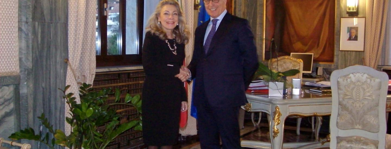 Elisabetta Margiacchi con Giuseppe Racca