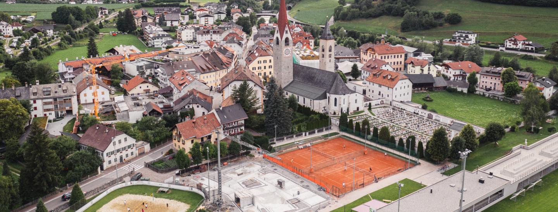 Vogelperspektive der neuen Inso Location in St. Lorenzen