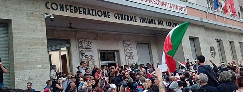 Assalto CGIL roma forza nuova no green pass