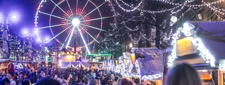 Riesenrad Weihnachtsmarkt Brüssel
