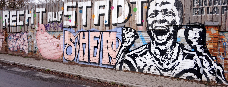 Recht auf Stadt Graffiti