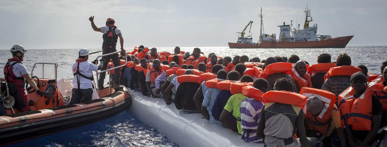 Rettungsaktion auf dem Mittelmeer