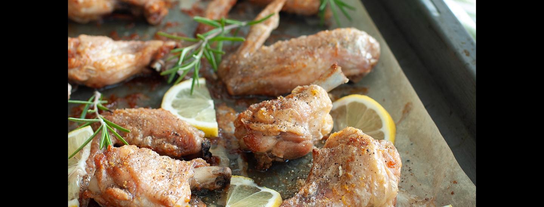 Ali di pollo con limone e pepe