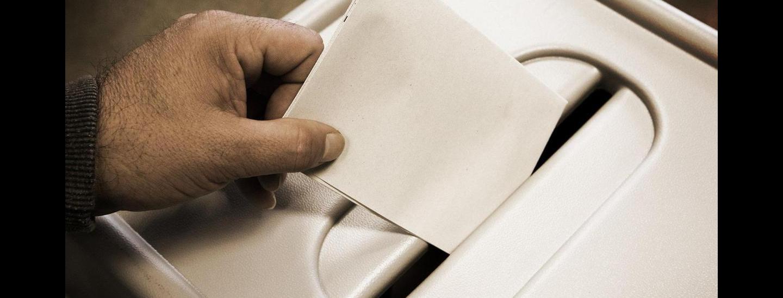 weißer stimmzettel