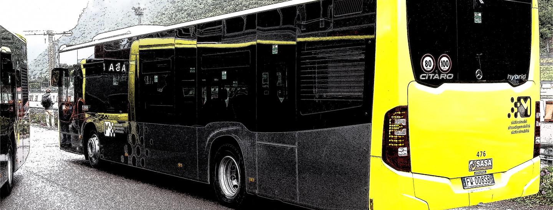 Bus ibridi-gasolio di Sasa