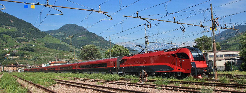 Railjet Testfahrt Bozen