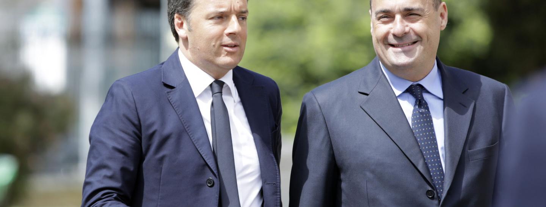 Renzi, Zingaretti, Pd