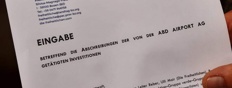 Eingabe Rechnungshof Flughafen