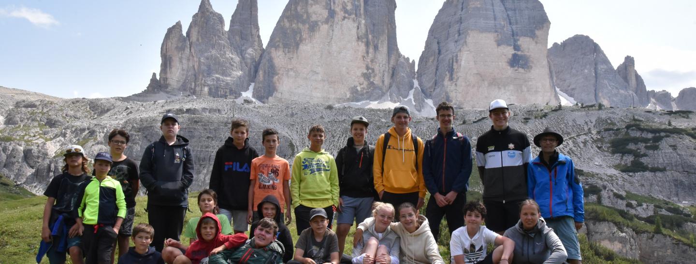 Gruppenfoto vor den 3 Zinnen