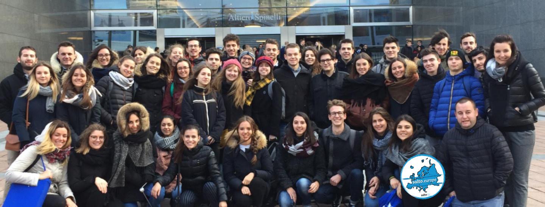 Gruppo giovani Pergine al Parlamento a Bruxelles