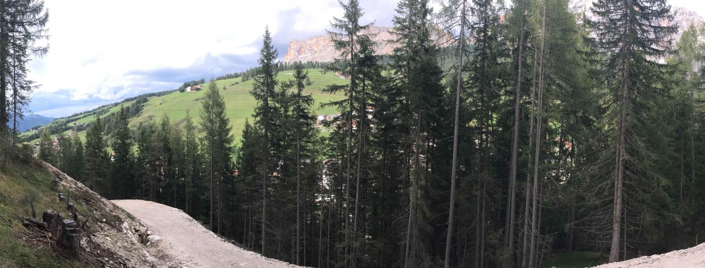 La strada nel bosco di Sorega, San Cassiano