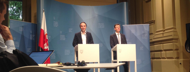 Philipp Achammer und Peter Höllrigl