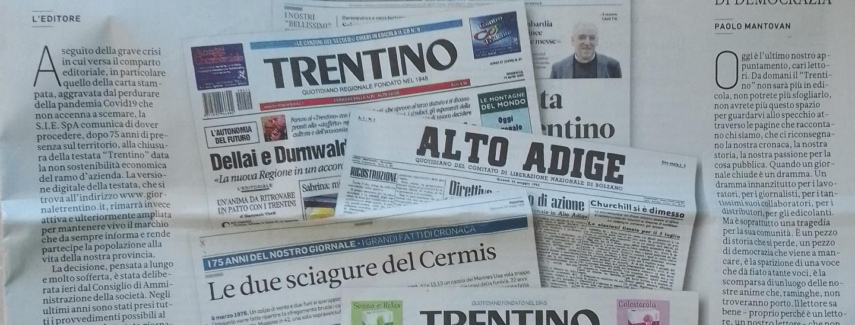 Trentino, ultima copia, giornale