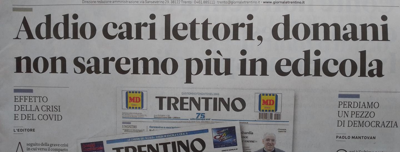 Trentino, ultima copia, edicola
