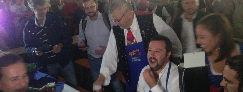 Matteo Salvini am Spatzenfest