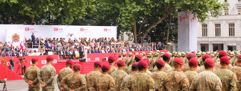 Militärparade 100 Jahre Unabhängigkeit Georgien