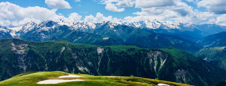 Landschaft zwischen Mestia und Ushguli