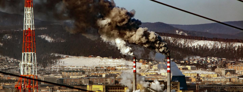 Kohlekraftwerk im Zentrum von Irkutsk