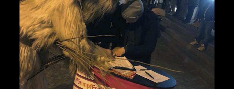 Unterschrift für Volksbegehren