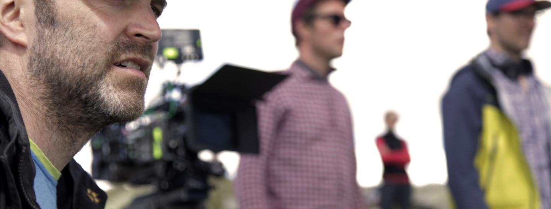 Martin Rattini am Set von AMELIE RENNT