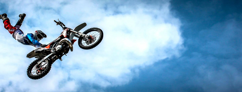 Motorrad-Stunt