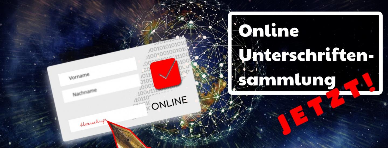 Petition Einführung Online-Unterschriftensammlung