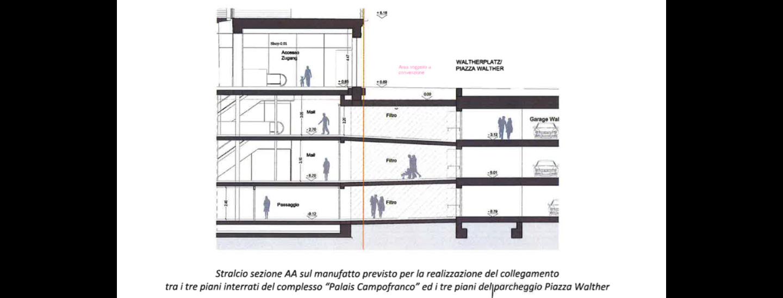 collegamento, Palais Campofranco, piazza Walther