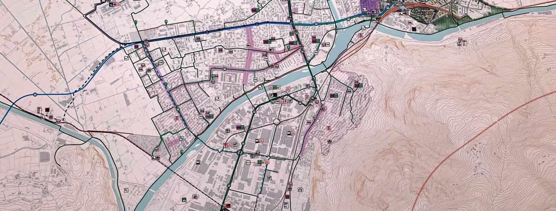 cartina del PUMS di Bolzano