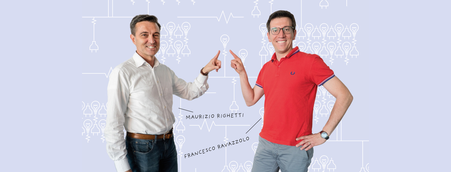 unibz Professors Maurizio Righetti (Science and Technology) and Francesco Ravazzolo (Economics and Management)