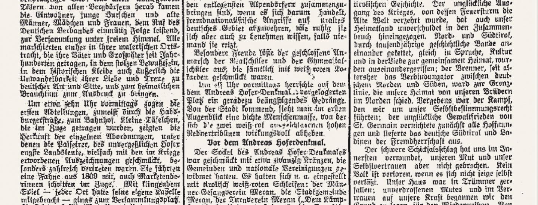 »Meraner Zeitung« vom 11. Mai 1920: Es geht um Rechte für ein »deutsches« Südtirol.