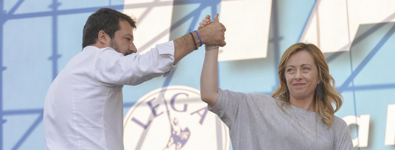 Salvini und Meloni im Jänner 2020