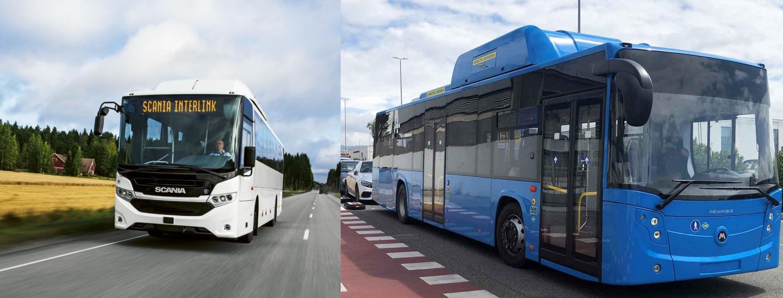 Bus a metano e metano liquido: Scania Interlink CNG e IIA Citymood LNG