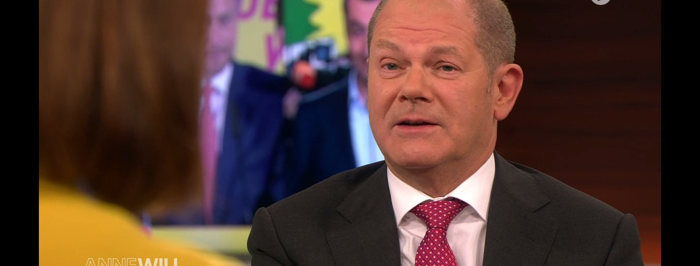 Olaf Scholz bei Anne Will