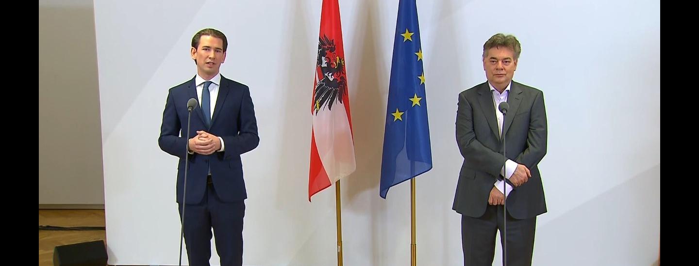 Sebastian Kurz und Werner Kogler