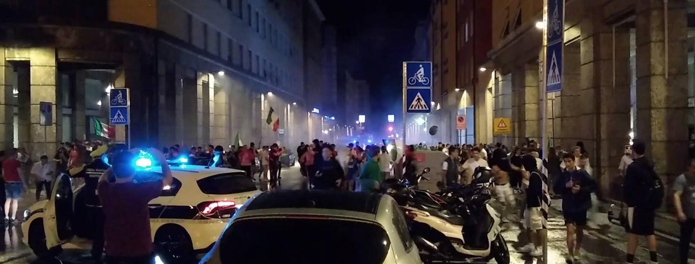 Tensione in Corso Libertà, Italia-Austria, 26 giugno 2021