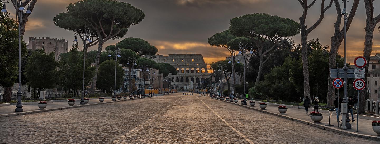 Via dei Fori Imperiali, erbaut während des Faschismus als Paradestraße für Mussolini