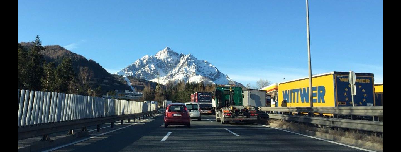 Autobahn Richtung Innsbruck