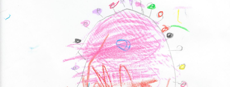 Kinderzeichnung Coronavirus