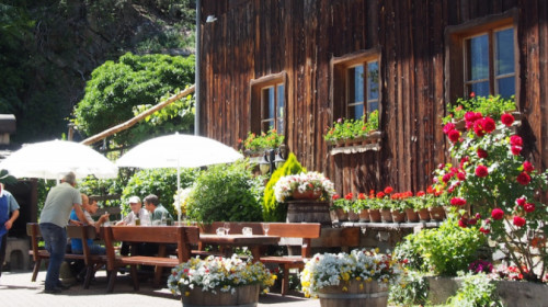 Der Gastgarten vom Weintal