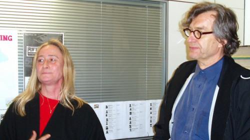 Heidi Gronauer e Wim Wenders