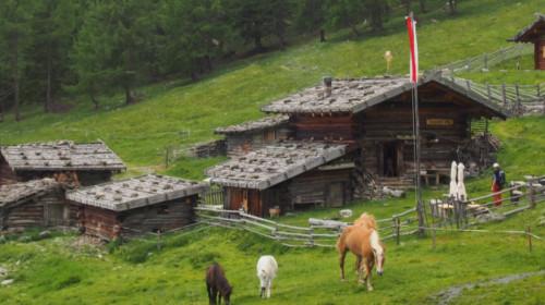 Die Hütten der Kaserfeld Alm