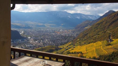 Die tolle Aussicht vom Balkon des Loosmann