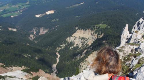 Tiefblick in die Bletterbachschlucht