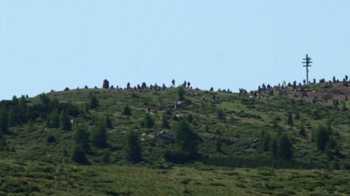 Die Stoanernen Mandln mit Gipfelkreuz