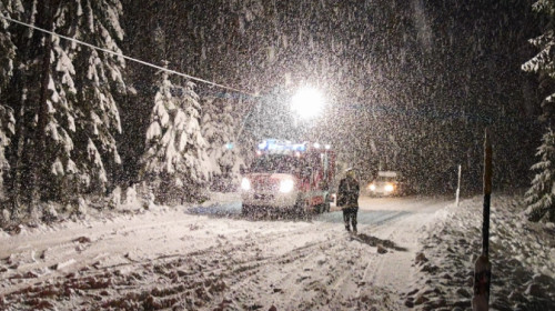 Schneefall Pfalzen